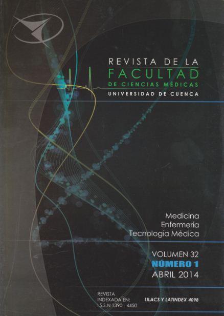 Rev. Fac. Cienc. Méd. Univ. Cuenca. Vol 32 Nº 1 Abril 2014