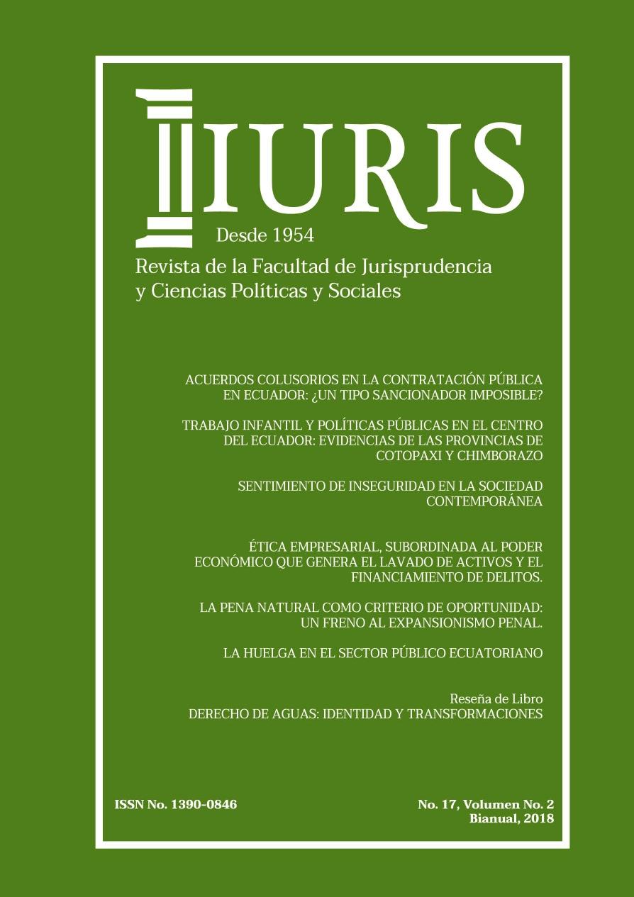 Ver Vol. 2 Núm. 17 (2018): Revista de la Facultad de Jurisprudencia y Ciencias Políticas y Sociales