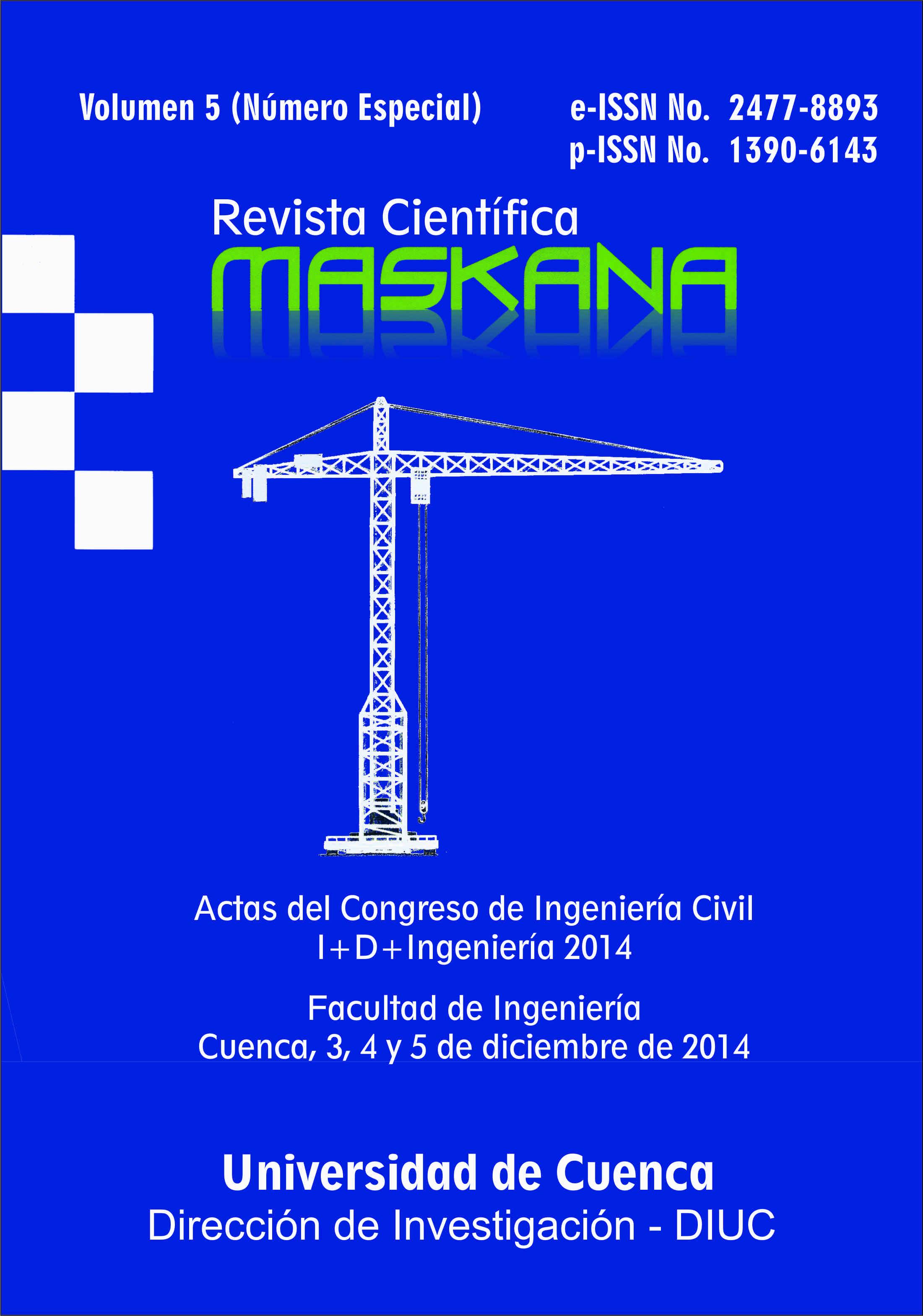 Ver Vol. 5 (2014): Actas del Congreso de Ingeniería Civil, como parte del Congreso I+D+Ingeniería 2014